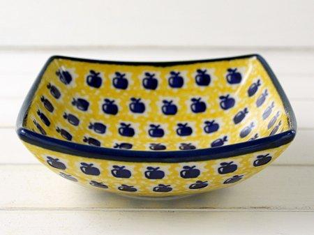 ポーリッシュポタリー (ポーランド食器) 四角いボウルM|M105-ALC26