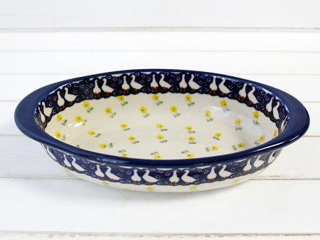 ポーリッシュポタリー (ポーランド食器) オーバルグラタン皿M | P149-ALC56