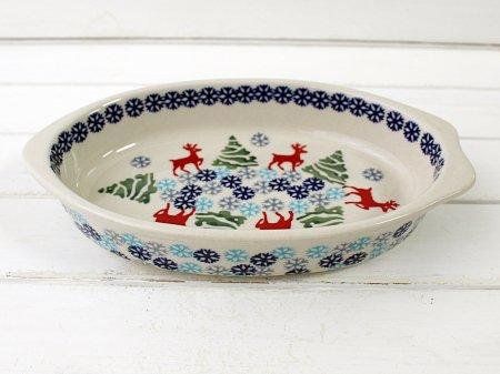 ポーリッシュポタリー (ポーランド食器) 船形グラタン皿M | P63-BL07