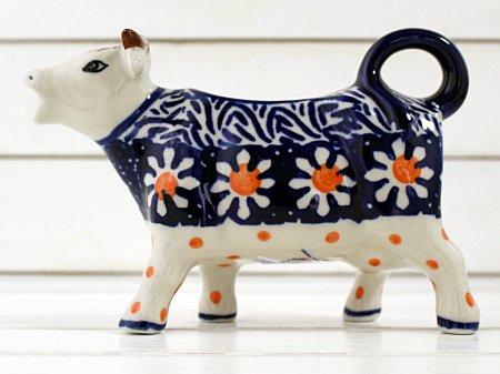ポーリッシュポタリー (ポーランド食器) 牛のピッチャー | D81-ALC5