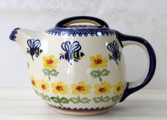 ポーリッシュポタリー(ポーランド食器)カフェ&ティーポットC35-ALC72