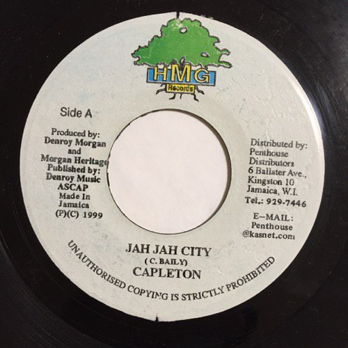 CAPLETON / JAH JAH CITY - JACKWELL MIYAH / ETHIOPIAN PRAYER - YARDIES SHACK  RECORDS