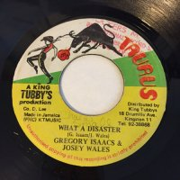 GREGORY ISAACS & JOSEY WALES / WHAT A DISASTER