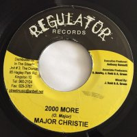 MAJOR CHRISTIE / 2000 MORE  - DETERMINE / TEARS