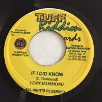 LENN HAMMOND / IF I DID KNOW