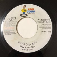 BRAIN & TONY GOLD / IT'S ALL OVER NOW