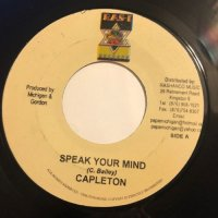CAPLETON / SPEAK YOUR MIND