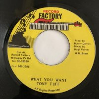 TONY TUFF / WHANT YOU WANT