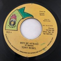 TONY REBEL / WHY BE AFRAID