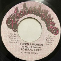 ADMIRAL TIBETT / I NEED A WOMAN
