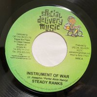 STEADY RANKS / INSTRUMENT OF WAR - MARK WONDER / JAH NEVER FALL I