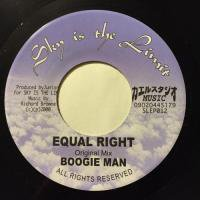 BOOGIE MAN / EQUAL RIGHT