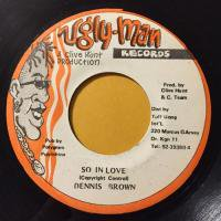 DENNIS BROWN / SO IN LOVE
