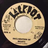 JOHNNY CLARKE / DECLARATION OF RIGHTS