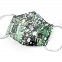 マスク制作キット MSk032401 基板とPC背面