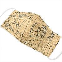 Wガーゼマスク制作キット wgz2020025 古代壁画と地上絵セット