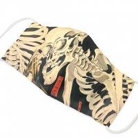 TM081501 お仕立て上りマスク がしゃ髑髏柄