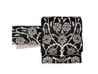 京袋帯 sFU180189 白×黒 即納品