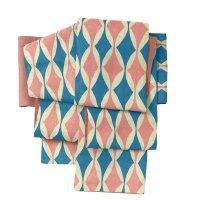 半巾帯 sFU00352 ブルー×ピンク 即納品