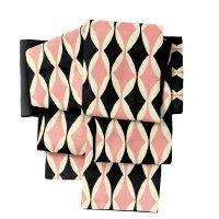 半巾帯 sFU00352 黒×ピンク 即納品