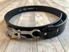 【TORY LEATHER】Pelican Hook Belt Black w/Nickel