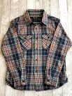 【UES】 HEAVY FLANNEL SHIRT NAVY