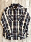 【UES】  HEAVY FLANNEL SHIRT NAVY VER.2