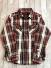 【UES】 HEAVY FLANNEL SHIRT RED