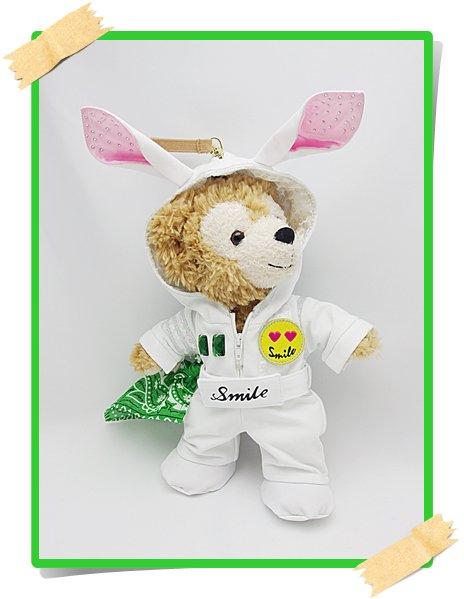 ダッフィー&ジェラトーニ 衣装 ポーチサイズ (身長28cm) 変身シリーズ ウサギ コスチューム  oka
