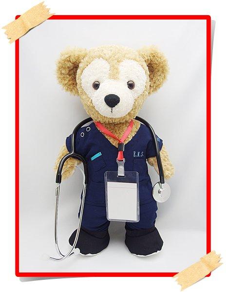 聴診器付 ダッフィー&シェリーメイ 衣装 Sサイズ (身長43cm) 山P コードブルー 風 コスチューム yp02