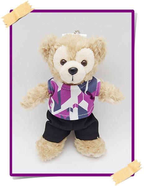 ダッフィー&ジェラトーニ&ステラルー 衣装 ぬいばサイズ (全長14cm)  show コスチューム 紫  a310