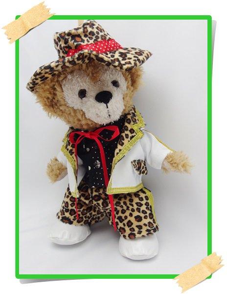 ダッフィー&ジェラトーニ 衣装 ポーチサイズ (身長28cm) Magical 豹柄 コスチューム A a31