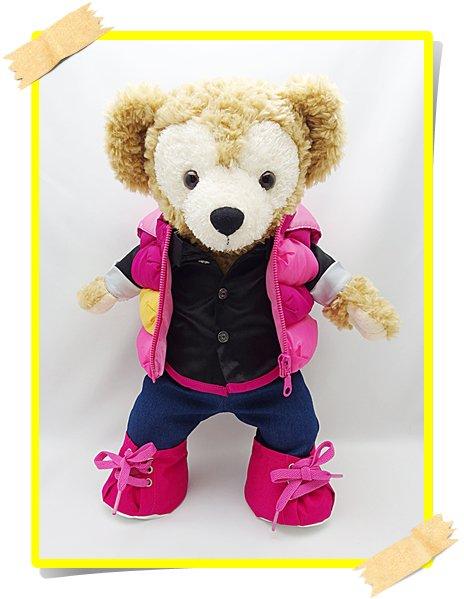 ダッフィー 衣装 Sサイズ (全長43cm)  ワイハジャケット コスチューム ピンク N a97
