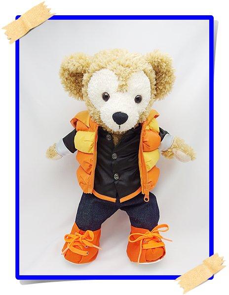 ダッフィー 衣装 Sサイズ (全長43cm)  ワイハジャケット コスチューム オレンジ O a99