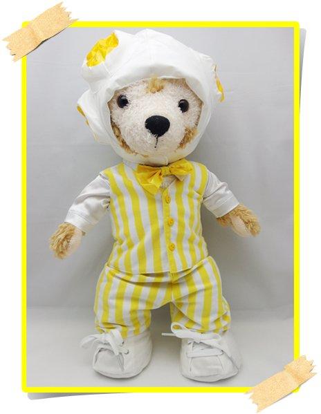 ダッフィー&シェリーメイ 衣装 Sサイズ (身長43cm) 変身シリーズ ポップコーン コスチューム 黄色 a147