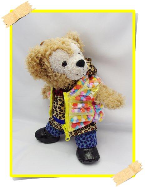 ダッフィー&ジェラトーニ 衣装 ポーチサイズ (身長28cm) 2013 NEW 豹柄 コスチューム new00 増