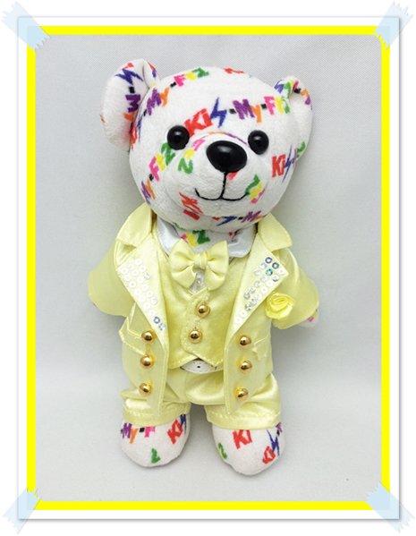 キスマイベア コスチューム 衣装 高クオリティ 黄色スーツ 服 K15 T