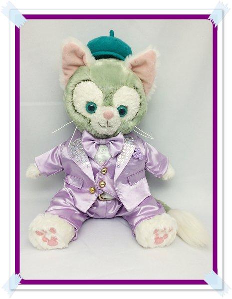 ジェラトーニ&ステラルーも着用OK!!衣装 Sサイズ (全長40cm) kiss 紫色スーツ コスチューム kjn12 M