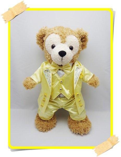 ダッフィー&シェリーメイ 衣装 Sサイズ (身長43cm) コスチューム kiss 黄色スーツ 服 kdn15 T