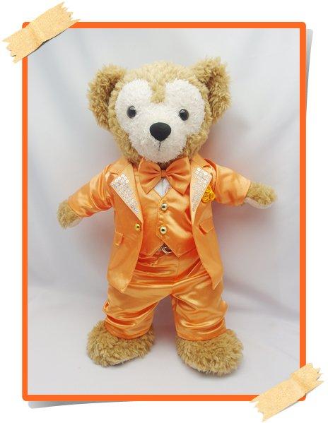 ダッフィー&シェリーメイ 衣装 Sサイズ (身長43cm) コスチューム kiss オレンジ色 スーツ 服 kdn13 Y