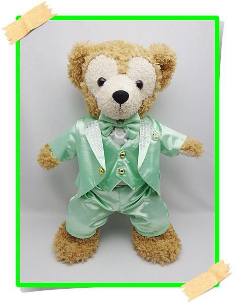 ダッフィー&シェリーメイ 衣装 Sサイズ (身長43cm) コスチューム kiss 緑色 スーツ 服 kdn16 N