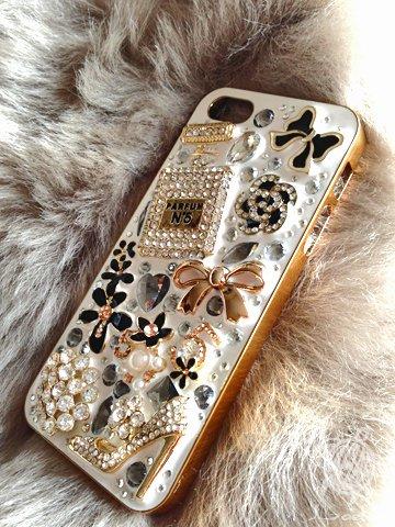 iPhone5 キラキラデコカバー