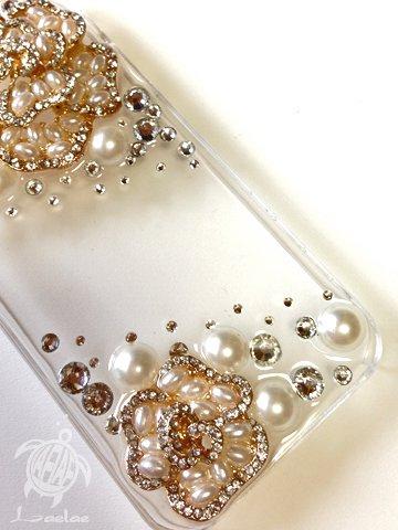 iPhone5・5S用カバー パールフラワー