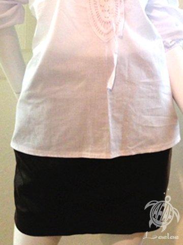 羊革タイトスカート