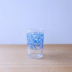 ツタ花グラス[ブルー]