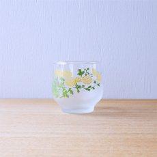 たんぽぽ模様のグラス