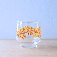 オレンジ風車のグラス