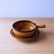 ノリタケグラタン皿[茶]
