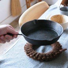 紀州棕櫚の手編み鍋敷き 中