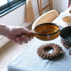紀州棕櫚の手編み鍋敷き 小